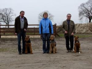 Von links : Rocco, Naemi; Sally - Es ist geschafft !