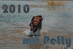Monatskalender 2010 der Fam. Freist mit PETTY (Petula vom Dippold).