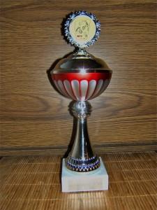 Sally's Pokal zum Veteranenchampion - ihr grösster und schönster!
