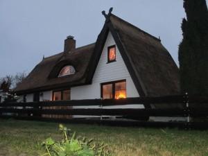 Das Ferienhaus von U-Balou und seiner Familie an der Ostsee, hier in der Weihnachtszeit, aber ganz ohne Schnee.