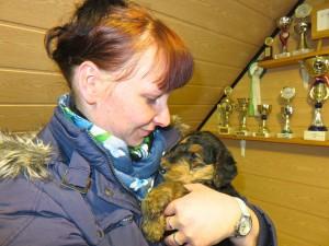 """Leons Mutti - Jana - ist auch jede Woche zum Besuch hier - auch eine """"Hundetante"""", man sieht es!"""