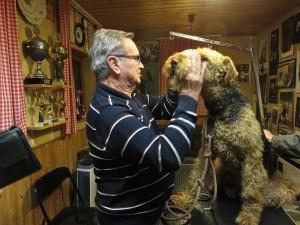 Nicht einfach - bei uns geboren, sehr oft gesehen und Kontakt, ca. 20 mal getrimmt - ein toller Hund!!