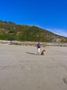 ... und der andere suchte am weiten Strand oder in der Luft, was da fliegt!