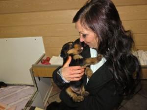 Und noch ein Mitglied der Familie, hat auch einen Hund, aber hat sich hier (fast neu)wieder verliebt!