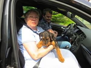 Das wird eine weite Fahrt, aber bei Oma und Enkel sehr gut aufgehoben - alles Gute, liebe Zora.
