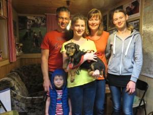 Eine super nette Familie aus Freital, nicht weit weg, sie waren öfter hier bei ihrer Zakira.