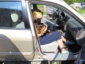 Und nun rein ins Auto, eine lange Fahrt bis in die Nähe von Györ!