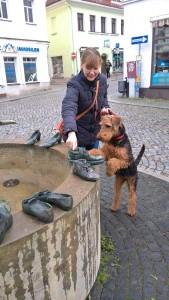 Hier war Zita bei uns zu Besuch, genauer, ab Schuhbrunnen in Dippoldiswalde mit Frauchen.