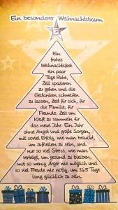Weihnachtsgrüsse von Zwecke's Eltern in Berlin.