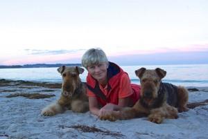 Ivo mit Frauchen und Kumpel Cliff.